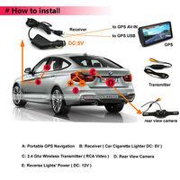 Специализированный магазин 2.4Ghz Wireless Transmitter Receiver for Car Rear View Backup Camera GPS Navigation RWL04