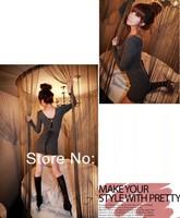 Женское платье Korean Autumn Clothing Lady's Sexy V-neck Lacing Dress Sexy Club Dress Nightclub Mini Dress