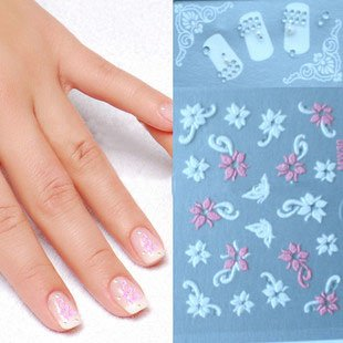 2013 fashion gel nail sticker (ZY7-5487)