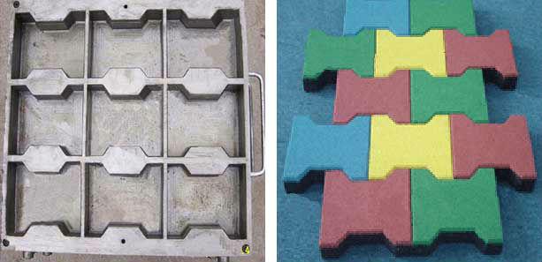 Как сделать резиновые формы для тротуарной плитки