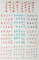Наклейки для ногтей 5sets/lot Nail Stickers Nail art Water Transfers Decal Feathers Fruit Flowers