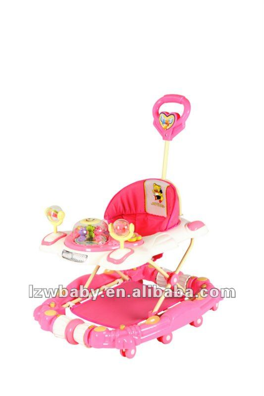 pink baby walker car graco baby walker / model:137-8FC