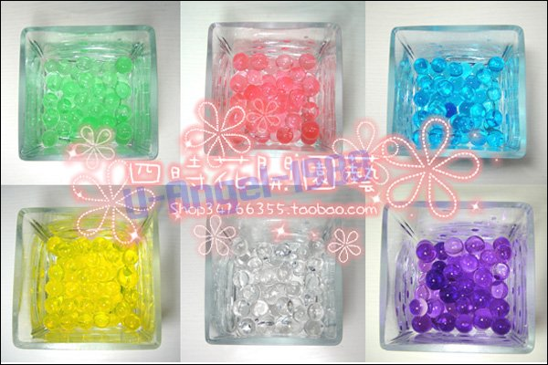 500packs/lot Crystal Soil/Water Beads/flower mud Retail Pack+free shipping
