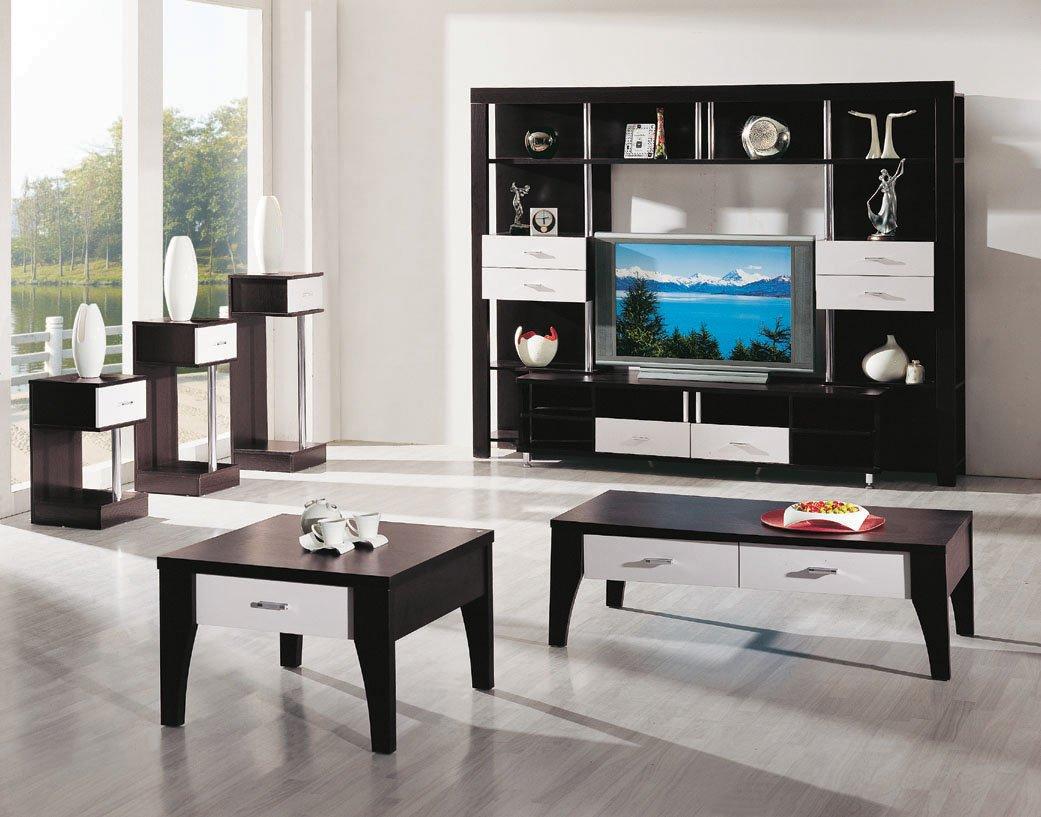 8802 zwarte walnoot familie moderne woonkamer sets woonkamer sets ...