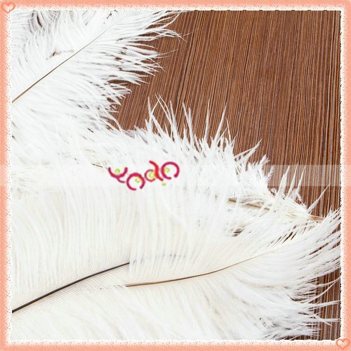 Free Shipping, Wholesale 10pcs Home Decor White Ostrich Feathers,A Great Gift For Friends 30sets/Lot 13006997