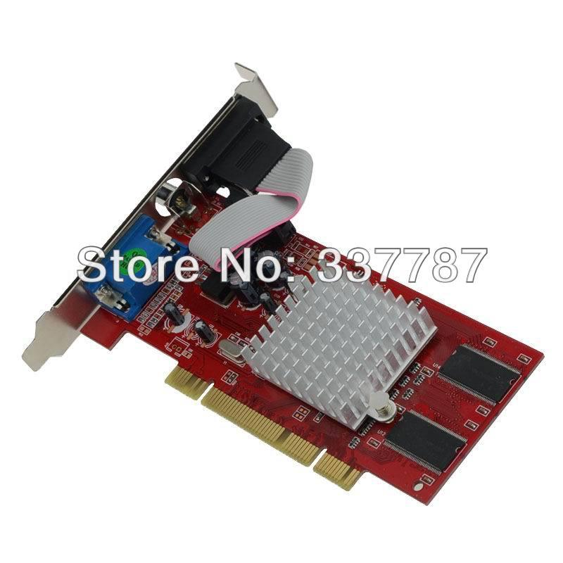 100% New ATI Radeon 7000 64mb pci video card Dual VGA Low Profile ...