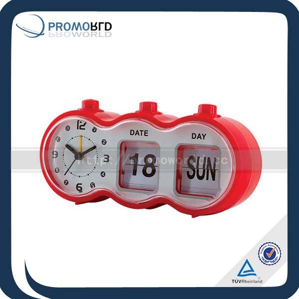 Day Date Calendar Clock Battery Operated Auto Flip Calendar Clock