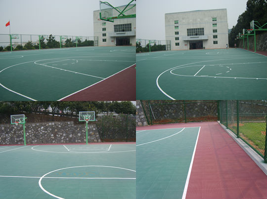 SUGE Outdoor Interlocking Basketball Floor Tile, Outdoor Sport Court Tile,PP sport tile