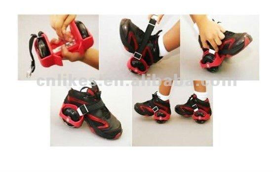 Sapatos de rolo de flash rodas de rua planador