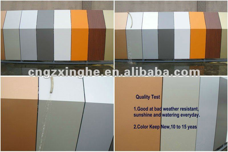 exterior cladding corrugated aluminum sandwich composite panel