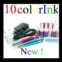 Комплект для татуировки 2pcs Pen Machine Permanent Makeup Inks Makeup Set