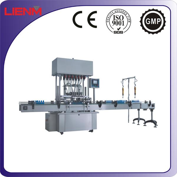 ISO9001 Standard Straight Line Automatic Liquid Filling Machine