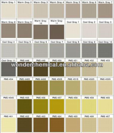 Pantone metallic colors powder coatings metallic gold effect powder