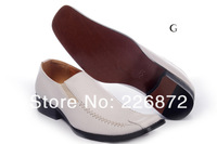 мужчин кожа мода обувь Свадьба Обувь Черный белый цвет Размер 41-46