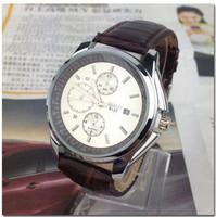 Наручные часы Fashion luxury business wristwatch men famous brand watch leather strap watch quartz watch for women men