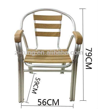 في الهواء الطلق كرسي خشبي الألومنيوم zt-1042c