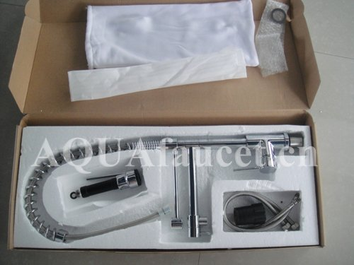 Modern pull out shower spray kitchen tap mixer