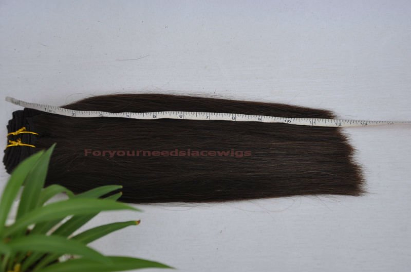 "Free shipping Trendy Clip on hair extension/ 14"" to 24"" straight or wavy in colors of black, brown, light brown, blonde, gray"