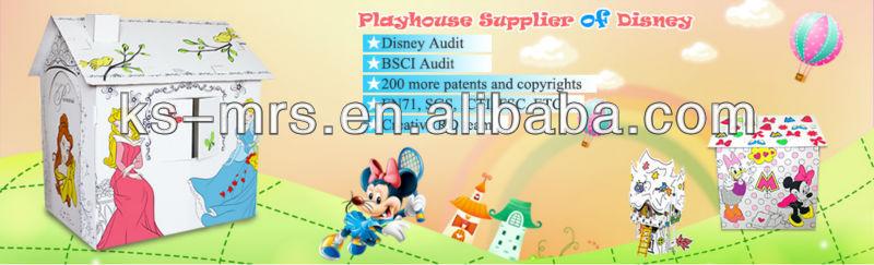 kids craft big playhouse villa toy top sell 2013