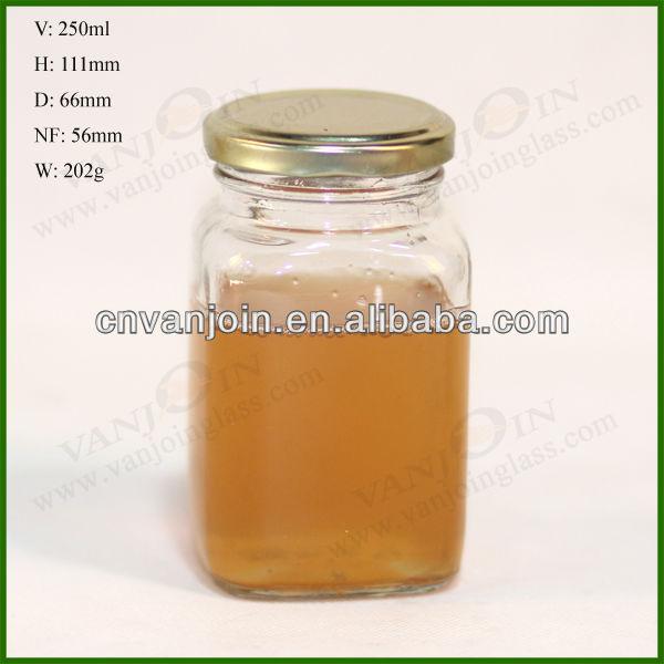 250ml Rectangle Glass Storage Jar