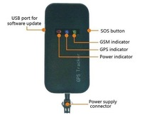 GPS-трекер Vehicle GPS Tracker GSM GPRS: 850/900/1800/1900 MHz Vehicle GPS Tracker TK110