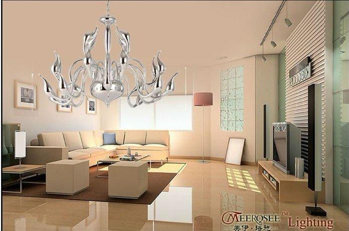 Contemporanea cigno elegante lampadario lampada, moda ferro battuto ...