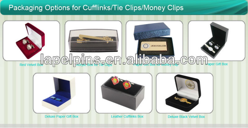 Metal Cuff links with Paper Sticker Inserted