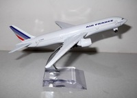 Free Shipping,Airlines plane model,   Air France B777-200  , 16cm, metal airplane models,airplane model