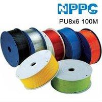 Пневматические детали High quality Pu tube. Air hose .Model:PU8x6.100M/roll .Colour:Black/red/blue/clear.-shipping
