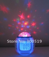 J453 Night Light Color Change LED Star Projector Projection Music Clock  Free Shipping