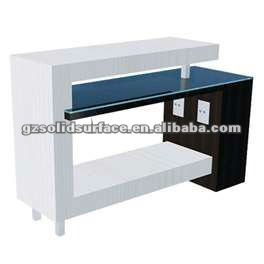 commercial application: reception counter, pole, windowsill, brand