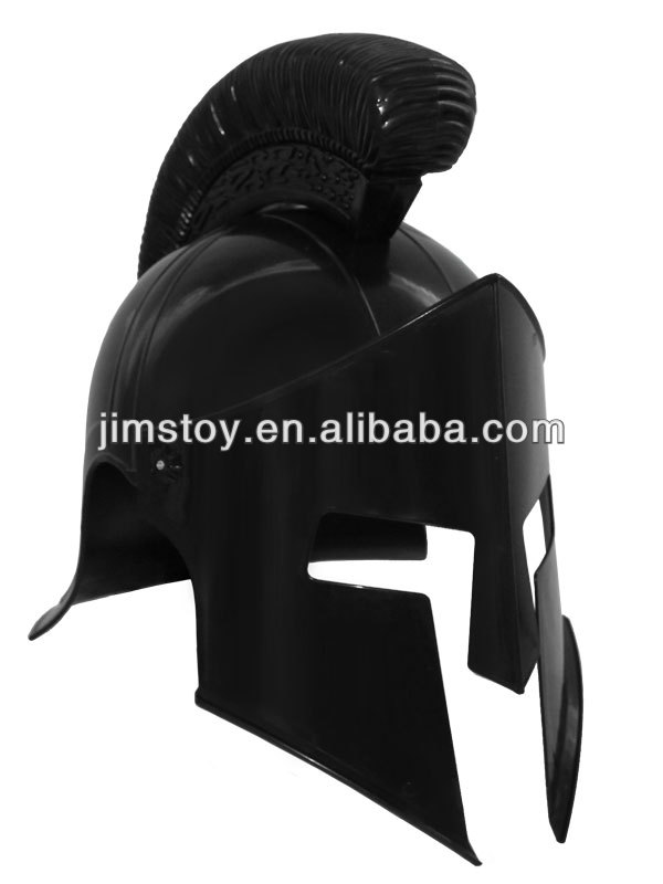 Hot Selling Plastic Small Medieval Roman Armor Helmet Corinthian with Chin Strap