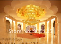 "Люстра 70"" Tall Empire Foyer Crystal Chandelier Light Fixture w. 53 Lights Gold Finish Guaranteed 100"