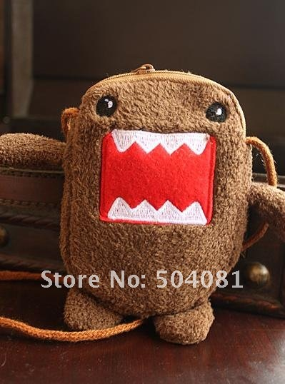 freeshipping DOMO kun design cosmetic bag beauty handbag make up pack lady women girl bag Plush Backpack, Stuffed Plush Toys Bag