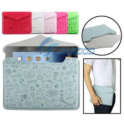 Cute PU Leather Case Protection Sleeve for iPad mini / for iPad 2 / for iPad 3