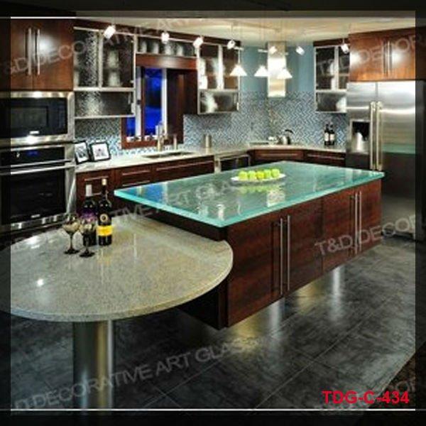 Cristal templado mesa de vidrio para cocinas encimeras de - Encimeras de cocina de cristal ...