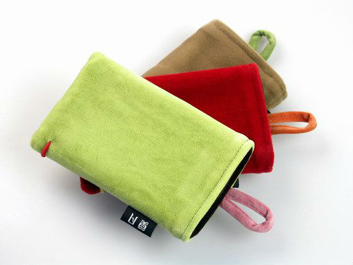 velvet colorful cloth mobile phone bag