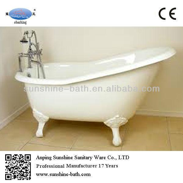 54 Inch Enamel Cast Iron Mini Slipper Indoor Bathtub Roll Top Bath Tub Buy