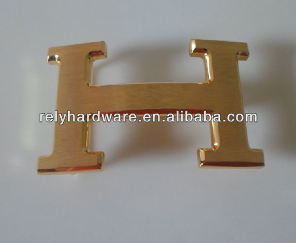 38mm letter buckle name gold plate belt buckles