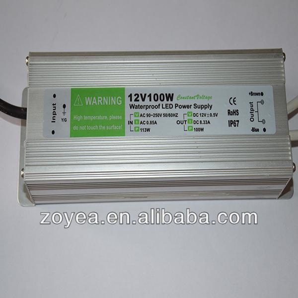 led waterproof led driver power supply IP67 30W/40W/50W/60W/70W/80W/90W/100W/120W/150W