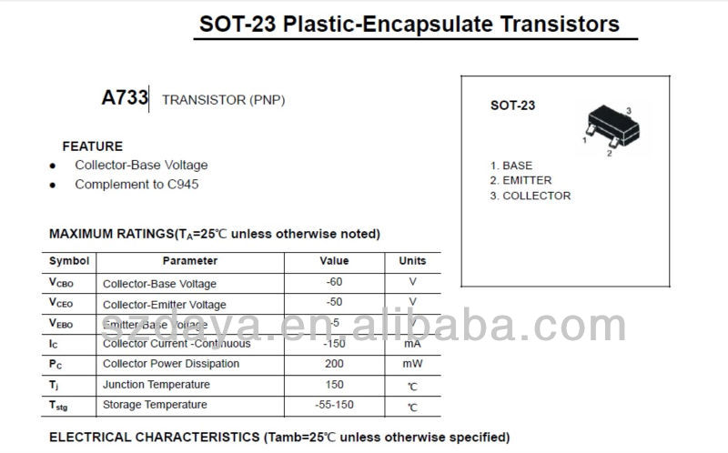 a733 транзисторы-Транзисторы-ID продукта: