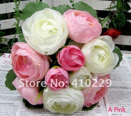 Искусственние цветки, камелия Роза, Bridal венчание букета & домашние цветы...