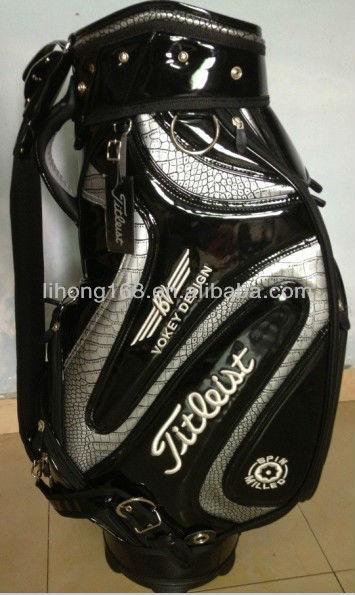 Hot selling high quality oem leather golf bag