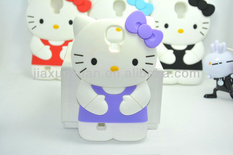 Hello Kitty Silicon Case For Samsung S4 Cell Phone Accessory