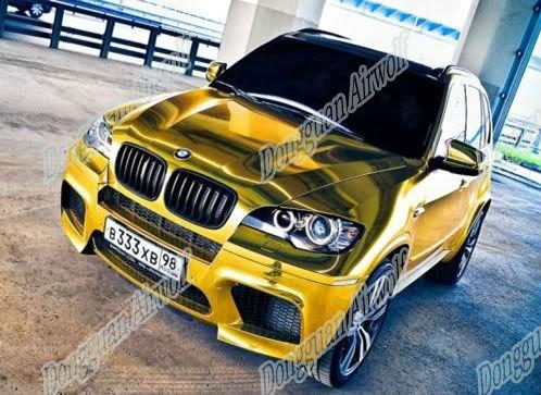 Gold Chrome Wrap Chrome-vinyl-car-gold-2