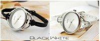 Наручные часы Watches & Clocks Wristwatches Leather slim a round face Ladies Watch