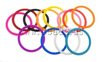 Ювелирное изделие Silicone Bracelets, Punk Style, mixed colors, 4mm, Length:Approx 6.8 Inch, 100PCs/Bag, Sold By Bag