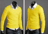 Мужской кардиган 6 colors Size M X XL XXL knitting thin men sweater, Korea slim style, Casual Sweater Coat high-grade