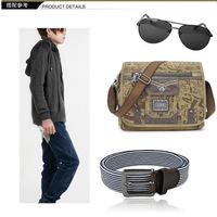 Маленькая сумочка 2012 new Korean MEN Leisure Bag Canvas Bag/ Single Shoulder Messenger Bags for leisure/ school