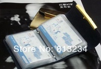Кошелек New brand Bifold Women's Genuine leather Business ID card holder Flower Case T3